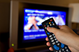 Включенный телевизор
